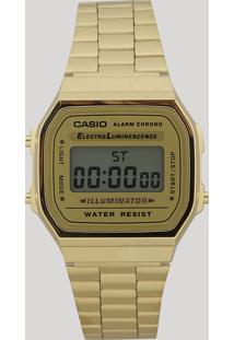 Relógio Digital Casio Feminino - A168Wg9Wdfu Dourado - Único