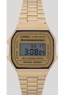 Relógio Digital Casio Unissex - A168Wg9Wdfu Dourado - Único