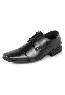 Sapato Social Elegance De Amarrar 1010 Preto