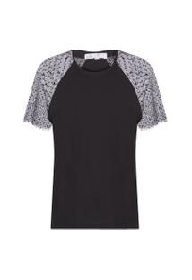 Camiseta Feminina Tule Janna - Preto