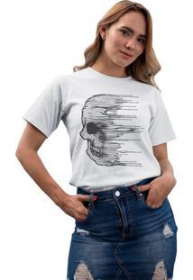 Camiseta Basica My T-Shirt Caveira Cidades Branco - Branco - Feminino - Algodã£O - Dafiti