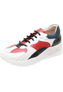Tênis Miuzzi Dad Sneakers Branco /Rubi/Preto/Indigo