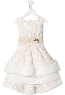 Lesy Vestido Mini Evasê Bordado - Branco