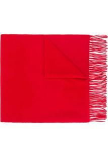 N.Peal Cachecol De Cashmere Grande - Vermelho