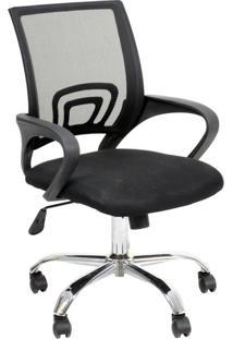 Cadeira De Escritório Secretária Giratória Java Preta