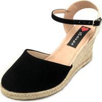 05367f11e4 Dafiti. Sandália Anabela Love Shoes Espadrille Fechada Corda Preto