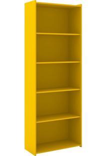 Estante Para Livros Biblioteca M Esm 201 Amarelo - Móvel Bento