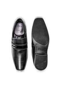 Sapato Preto Social Masculino Confortável Calce Fácil Estiloso