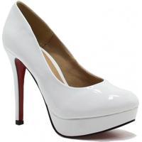 50357e7254 Sapato Zariff Shoes Meia Pata Verniz Noivas - Feminino-Branco