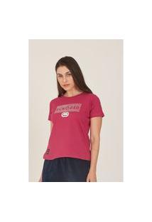 Camiseta Ecko Feminina Estampada Rosa