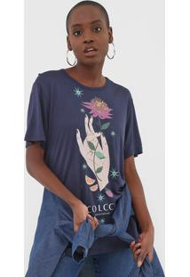 Camiseta Colcci Estampada Azul-Marinho - Kanui
