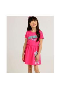 Vestido Infantil Manga Curta Lol Tam 4 A 10