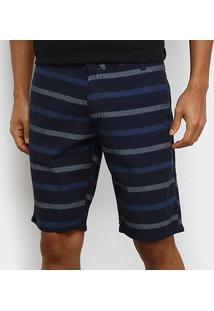 Bermuda Hd Slim Listrada Masculina - Masculino