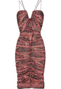 Isabel Marant Wilma Tapestry Print Midi Dress - Preto