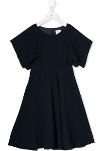 Noon By Noor Mini Vestido Aster De Crepe - Azul