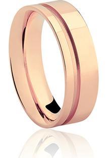 Aliança Noivo 6 Mm Ouro Rosé