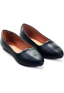 Sapatilha Mizzi Shoes Slipper Rasteira Floter Feminina - Feminino-Preto