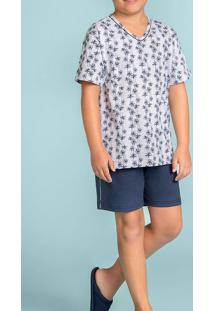 Pijama Curto De Menino Coqueiros 120372 Lua Encantada