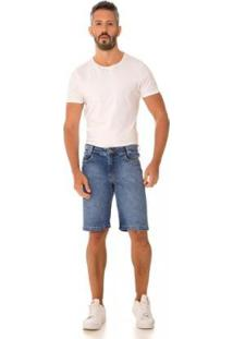 Bermuda Jeans Express Distrito Masculina - Masculino-Azul