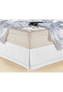 Saia Para Cama Box Queen Juma Classic 180 Fios Branco