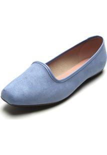 Slipper Moleca Camurça Azul