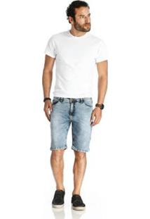 Bermuda Vlcs Jeans Diferenciada Masculina - Masculino-Azul