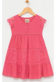 Vestido Infantil Com Renda E Tule - Tam 1 A 4