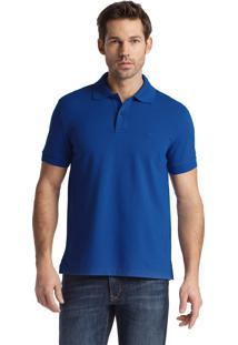 Polo Hugo Boss Masculina Regular-Fit Firenze/Logo Azul Royal
