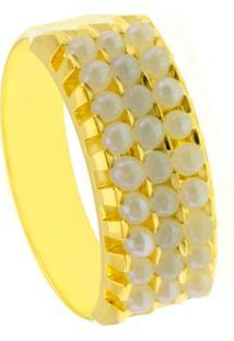 Aliança Horus Import Tripla Banhada Ouro Amarelo 18 K Dourado