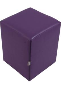 Puff Cubo Pop Corino Roxo