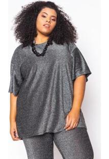 Camiseta Almaria Plus Size Alt Brand Glow Feminina - Feminino