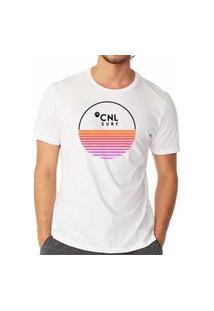 Camiseta Canal Cnl Branca Degradê