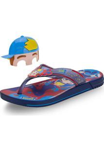 Chinelo Luccas Neto Mask Grendene Kids - 22274 Azul 23/24