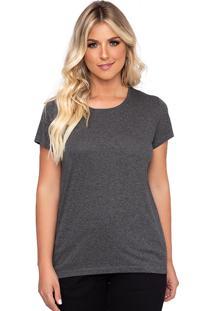 Camiseta Simone Saga Recorte Ombro Cinza