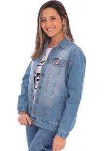 Jaqueta Jeans Sky Aee Surf Feminina - Feminino-Azul Claro