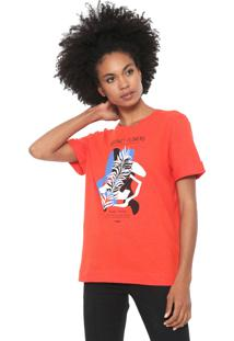 Camiseta Forum Abstract Flowers Laranja