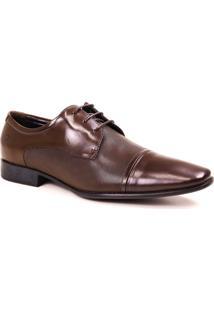Sapato Still Democrata Couro Cadarço