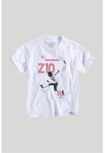 Camiseta Infantil Reserva Mini Zico Z10 Masculina - Masculino-Branco