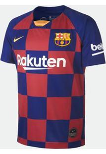 Camisa Nike Barcelona Pro 2019/2020 I Torcedor Azul Infantil