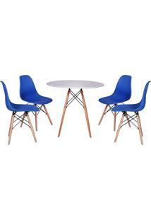 Conjunto Mesa De Jantar Impã©Rio Brazil Eiffel - Azul/Incolor - Dafiti