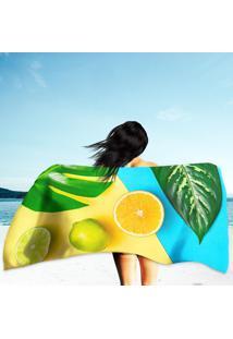 Toalha De Praia / Banho Palm Leaves And Fresh Fruits