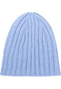 Cenere Gb Gorro Em Cashmere - Azul