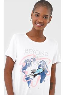 Camiseta Enfim Beyond The World Branca