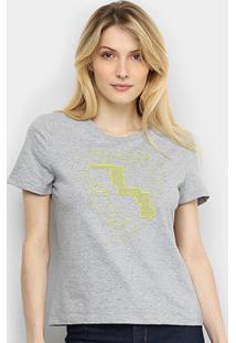 Camiseta Cavalera Tracing Neon Feminina - Feminino-Mescla