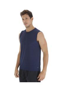 Camiseta Regata Oxer Básica Mescla - Masculina - Azul Esc Mescla