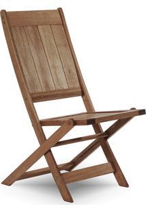 Cadeira Dobrável Gourmet De Madeira Para Piscinas Sem Braços Acqualung+ Nogueira