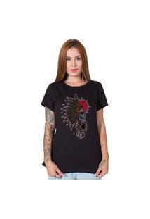 Camiseta Indian Chief Skull Preto