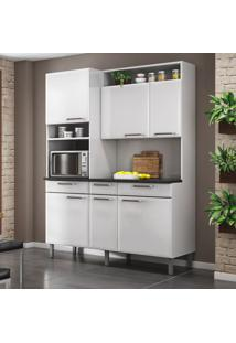 Cozinha Compacta Regina Ll 6 Pt 3 Gv Branca 155 Cm