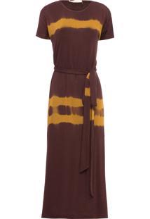 Vestido Midi Versace - Marrom