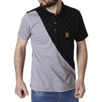 20924898ba Camisa Polo Manga Curta No Stress Preto Cinza